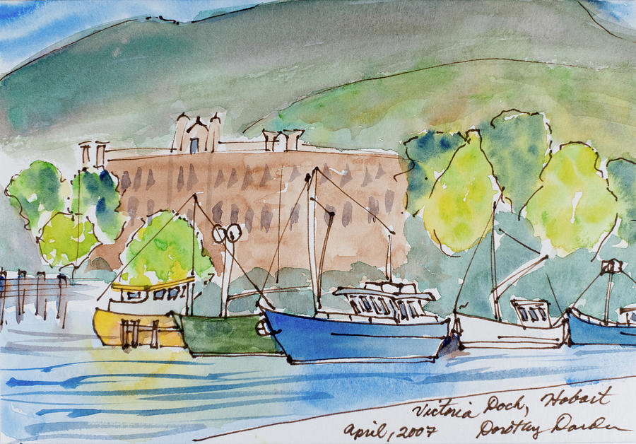 Fishing Boats in Hobart's Victoria Dock by Dorothy Darden