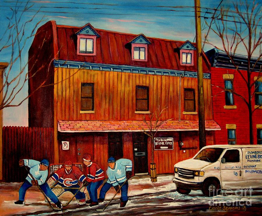 Levine Brothers Plumbers Painting - Commission Me Your Store by Carole Spandau