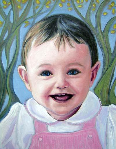 Commission Painting - Commission Portrait In Oil Paint by Gayle Bell