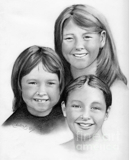 Children Drawing - Commission4 by Wanda Edwards