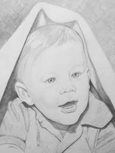 Baby Drawing - Commissioned 2006 by Suzan Tisdale