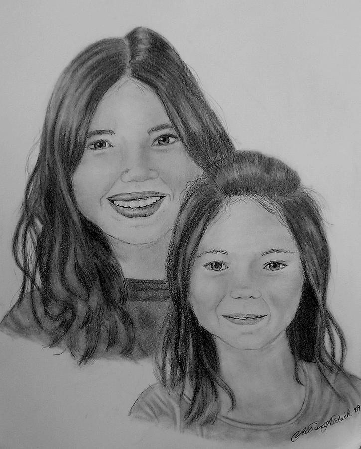 Portrait Drawing - Commissioned Graphite Portrait by Allison Aldrich