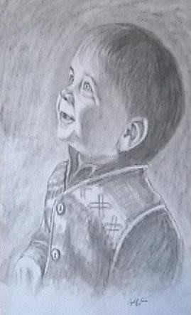 Commissioned Portrait Drawing by Crystal Sons