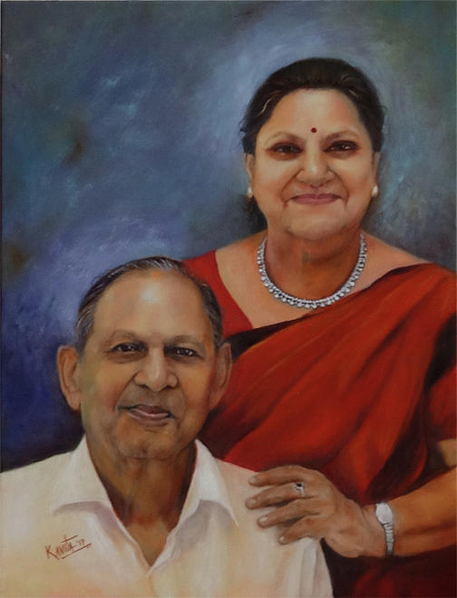 commissioned portrait by Kavita Vardhan