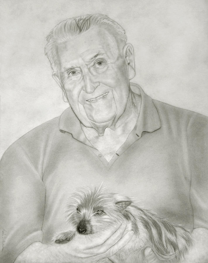 Portrait Drawing - Commissioned Remembrance Portrait by Nicole I Hamilton