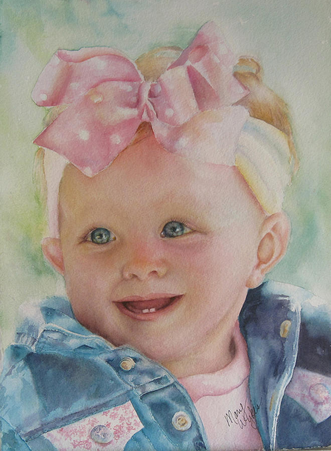 Portrait Painting - Commissioned Toddler Portrait by Mary Beglau Wykes