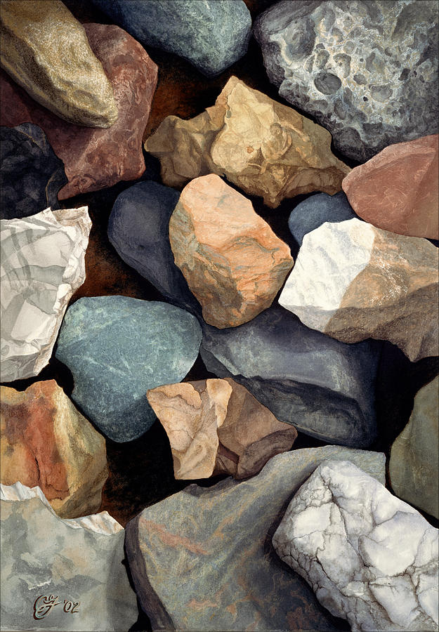 Stones Painting - Common Stone by Craig Gallaway