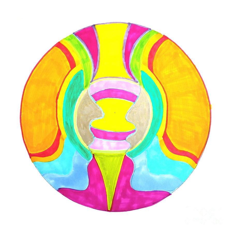 Mandala Drawing - Communicate II by Signe  Beatrice