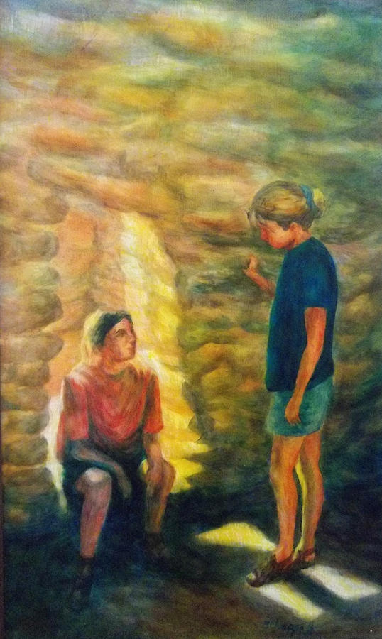 Impressionism Painting - Communion by Becky Chappell