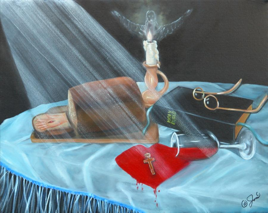 Oil Paintings Painting - Communion by Joni McPherson