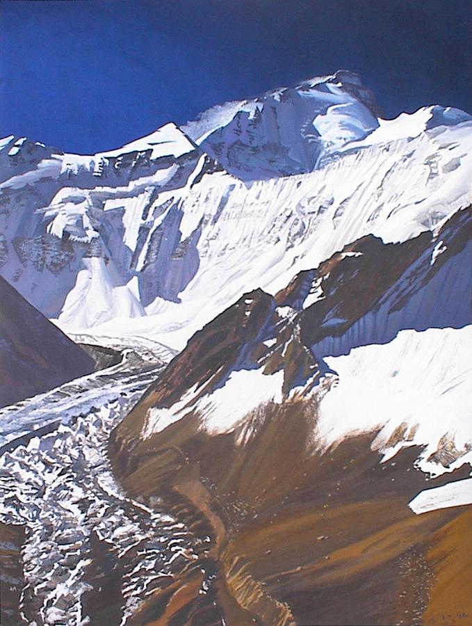Landscape Painting - Communism Peak And Peak Of Hohlov by Valeriy Grachov