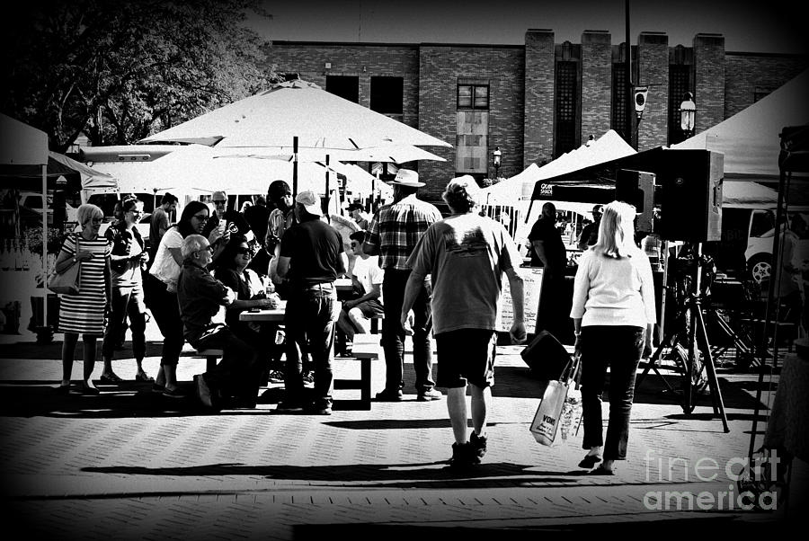 Community At The Farmers Market Photograph