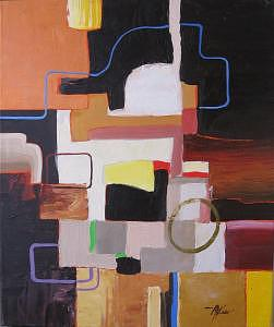 Abstract Painting - Commute I   20 X 24 by David  McKee