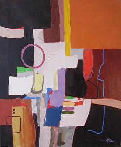 Abstract Painting - Commute II   20 X 24 by David  McKee