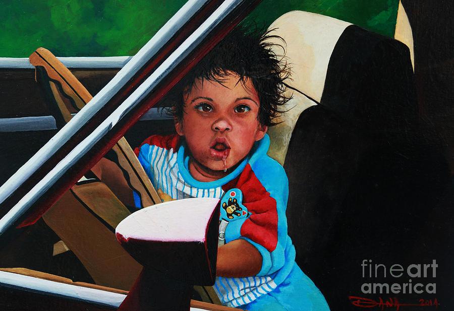 Oil Painting - Comon Lets Go by Dana Newman