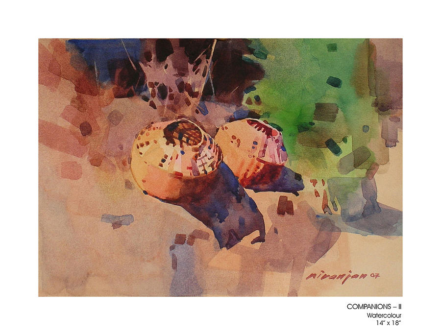 Konkan Painting - Companions-ii by Niranjan Mhamane