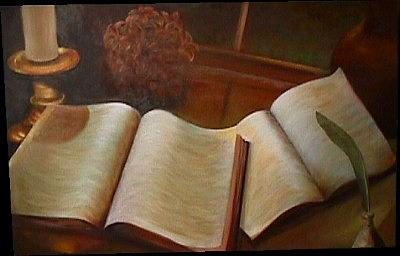 Books Painting - Companions by Janine Shideler