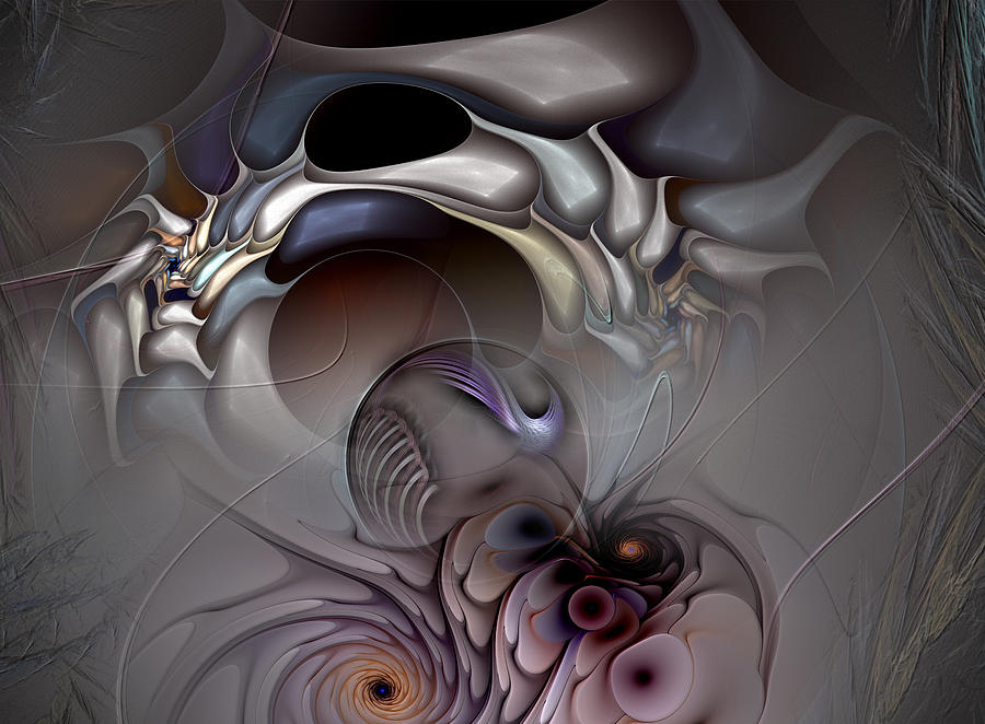 Abstract Digital Art - Compartmentalized Delusion by Casey Kotas