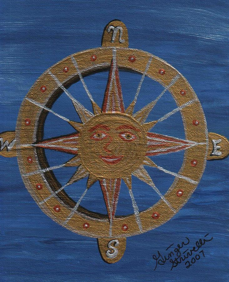 Compass Rose Painting - Compass Rose by Ginger Strivelli