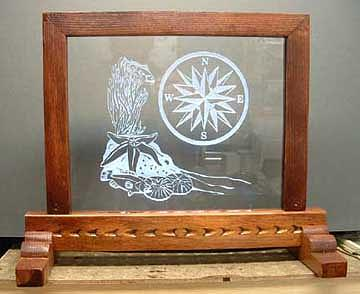 Glass Painting - Compass Rose by Steven Straight