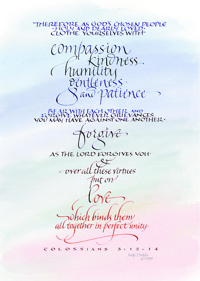 Anniversary Painting - Compassion And Love by Judy Dodds