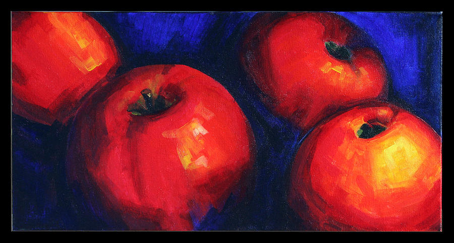 Apples Painting - Complementarios by Pepe Romero