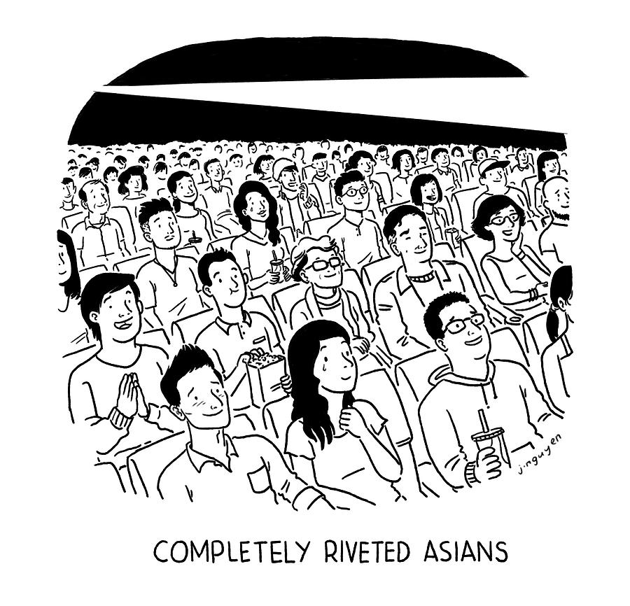 Completely Riveted Asians Drawing by Jeremy Nguyen