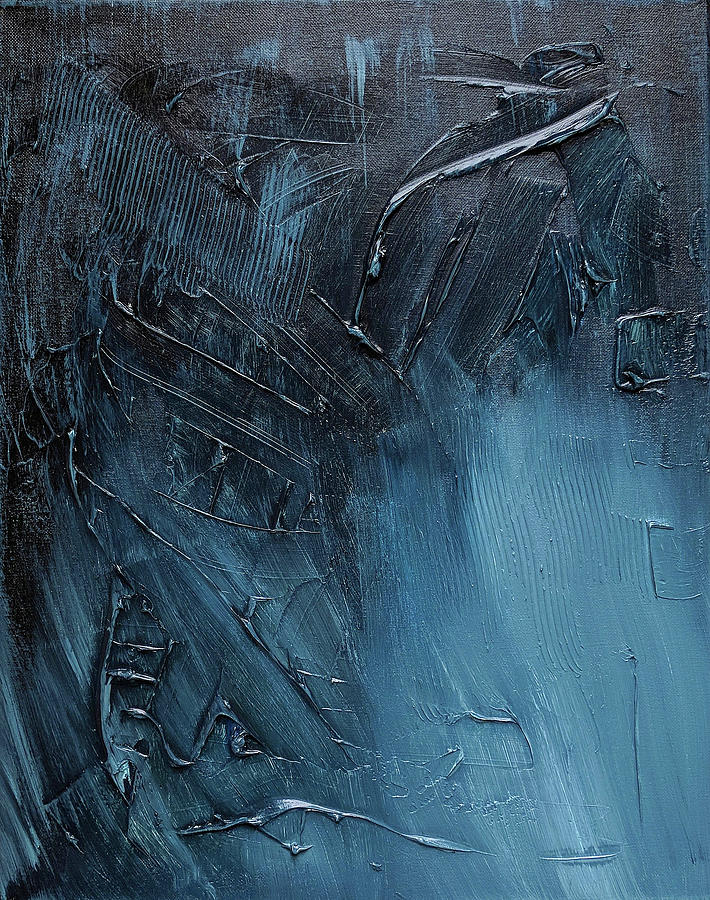 Abstract Painting Painting - Complex Blues by Trisha Pena