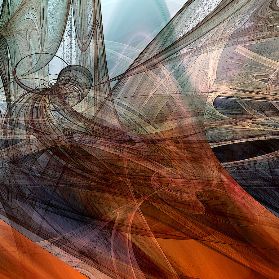 Abstract Digital Art - Complex Decisions by Ruth Palmer