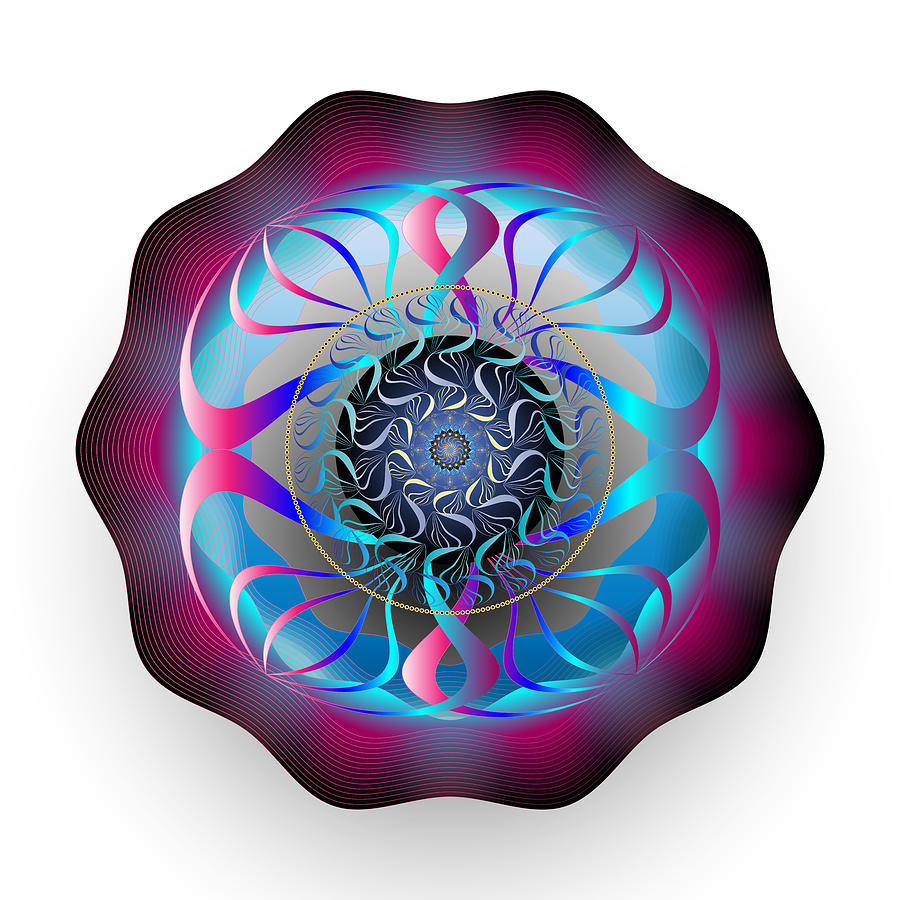 Mandala Digital Art - Complexical No 1868 by Alan Bennington