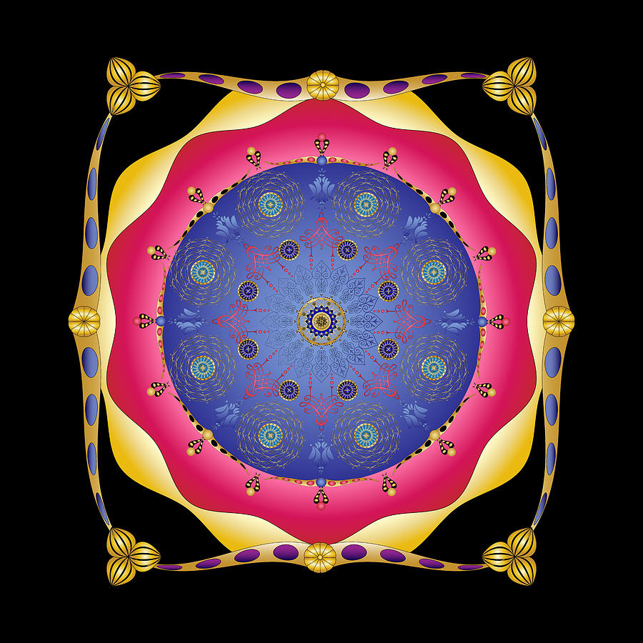 Mandala Digital Art - Complexical No 1870 by Alan Bennington