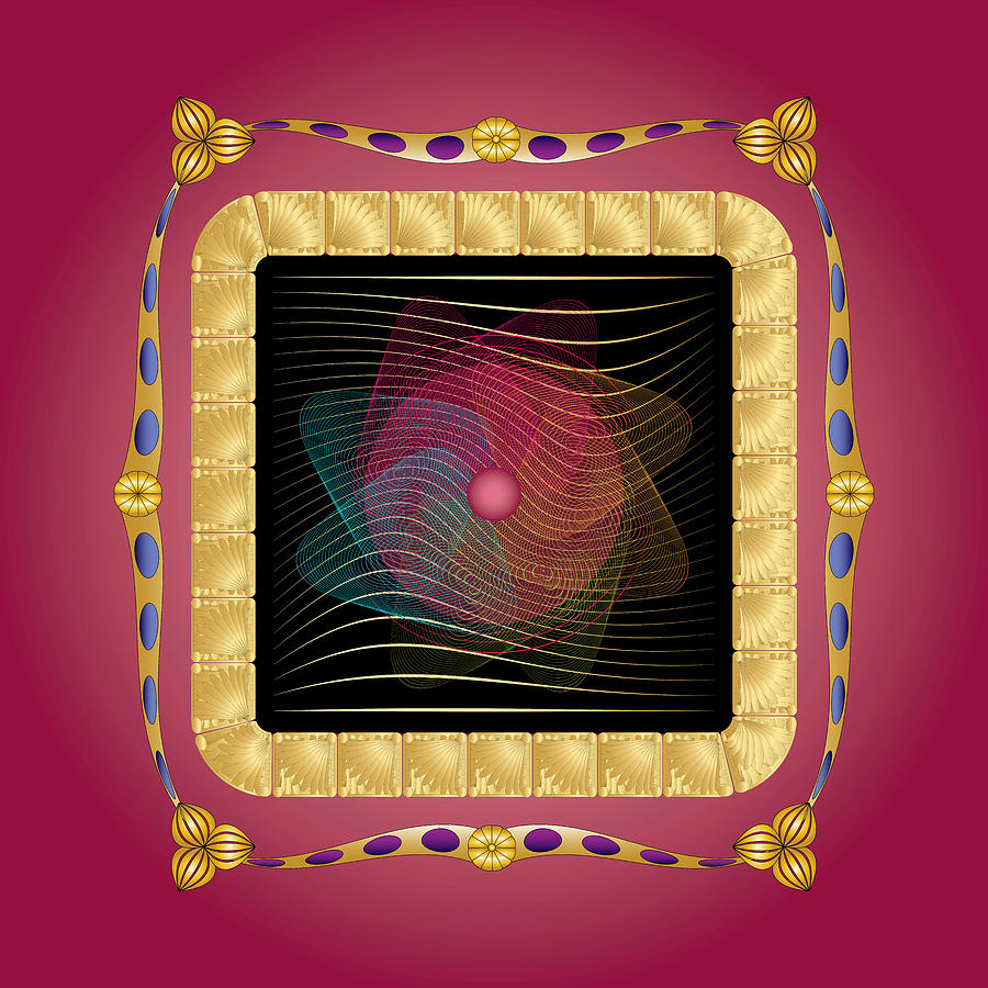 Mandala Digital Art - Complexical No 1872 by Alan Bennington