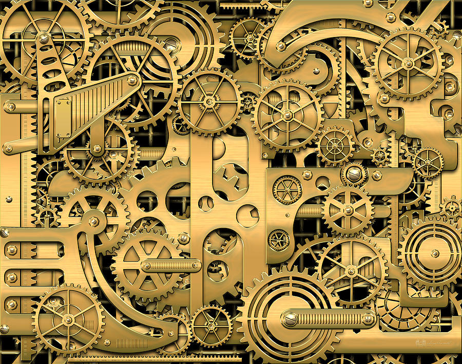 Clockwork Photograph - Complexity and Complications - Clockwork Gold by Serge Averbukh