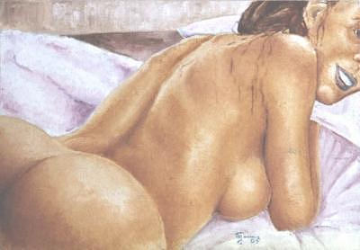 Nude Painting - Complicity by Marcello Romeiro