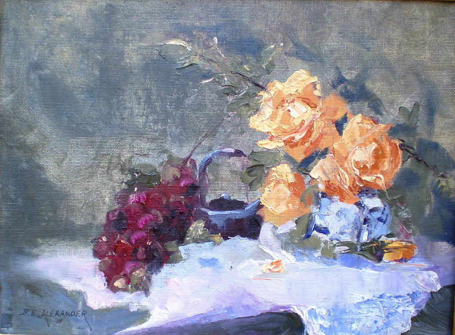 Still Life Painting - Complimentory by Bryan Alexander