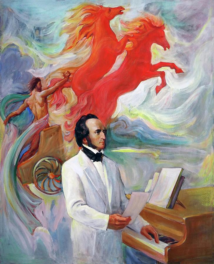 Composer Felix Mendelssohn Painting by Svitozar Nenyuk