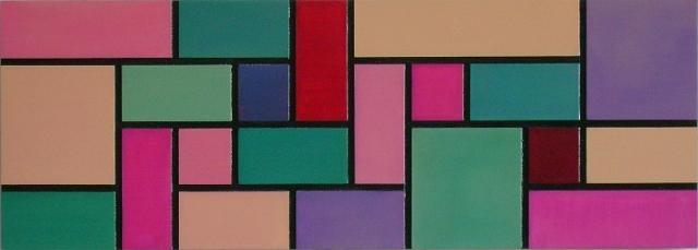 Composicao Geometrica II Painting by Nicolau Campos