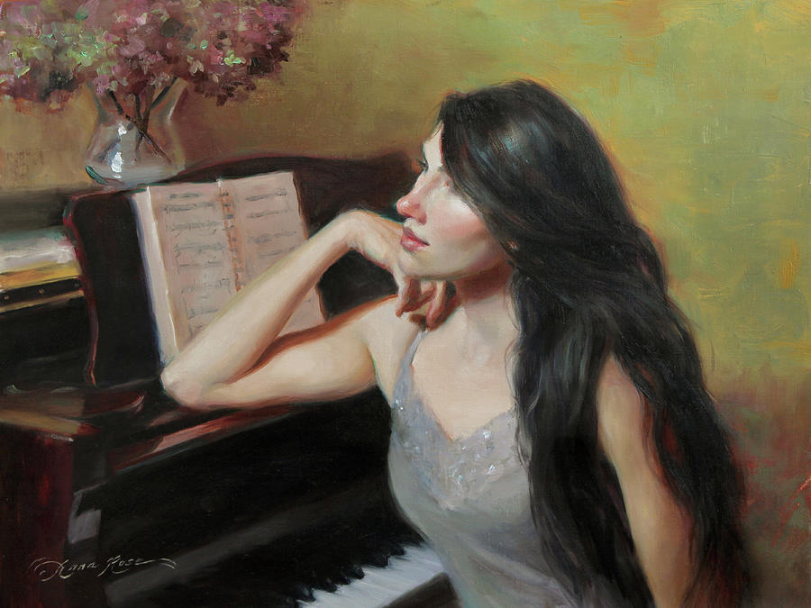 Compose Painting - Composing Thoughts by Anna Rose Bain
