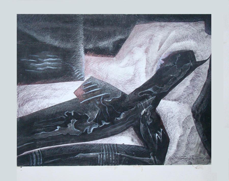 Abstract Mixed Media - Composition 2 by Sanjib Dey