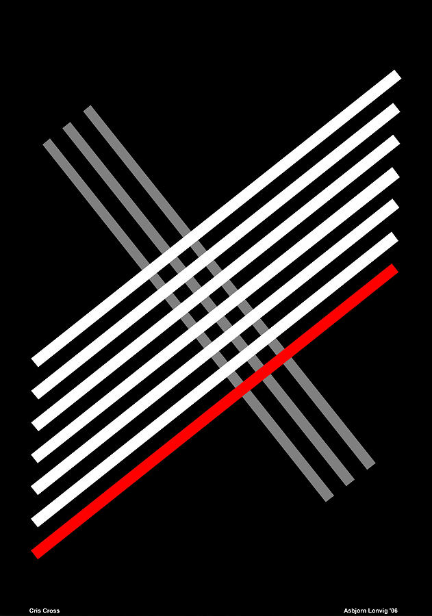 Cris Cross Digital Art - Composition Cris Cross by Asbjorn Lonvig