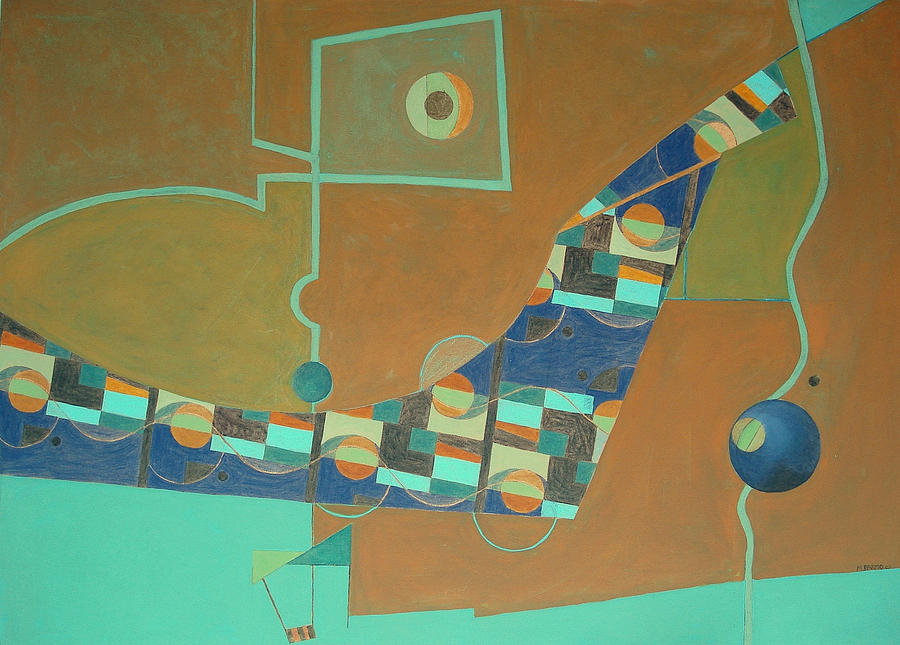 Paintings Painting - Composition IIi-07 by Maria Parmo