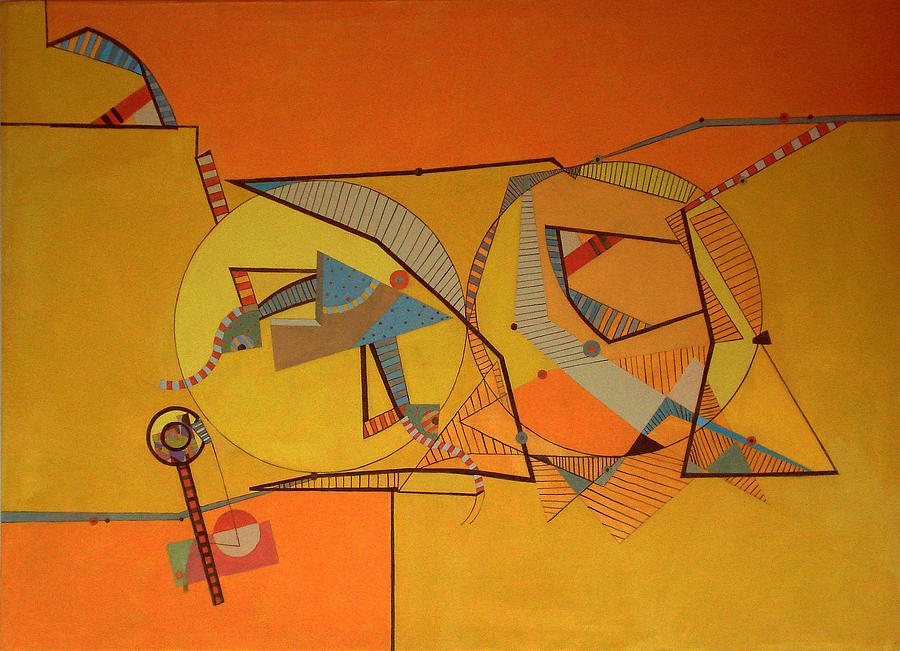 Composition IIi-10 Painting by Maria Parmo