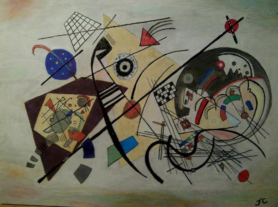 Kandinsky Painting - Composition by John Cunnane