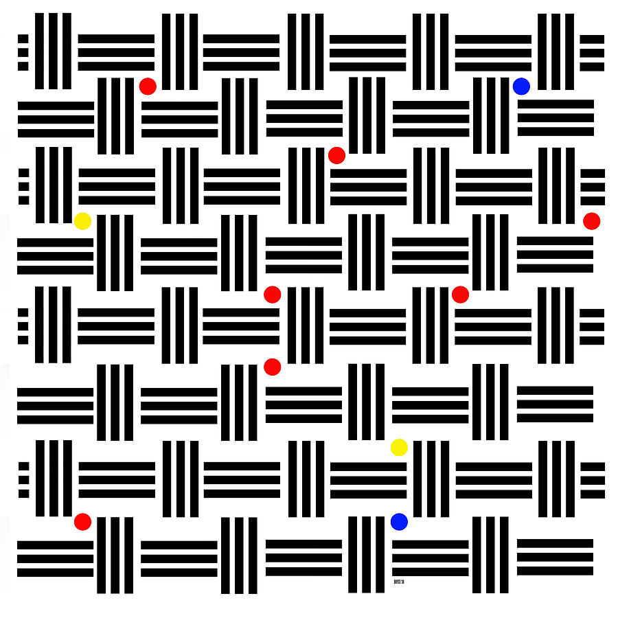 Geometric Digital Art - Composition 2 by Lois Boyce