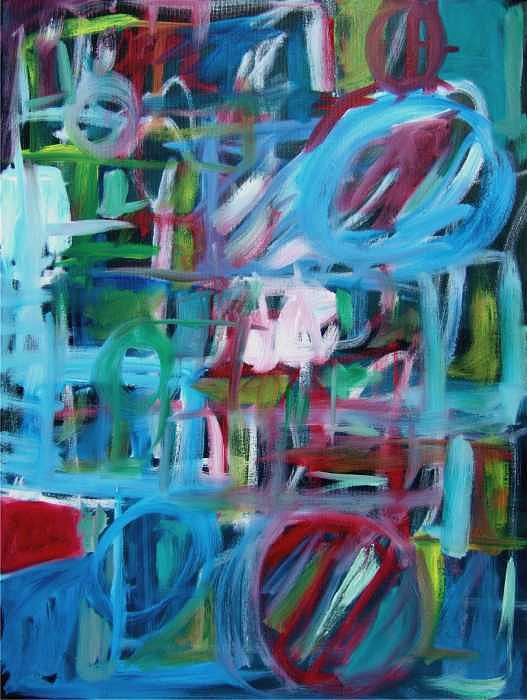 Gestural Painting - Composition No 2 by Michael Henderson