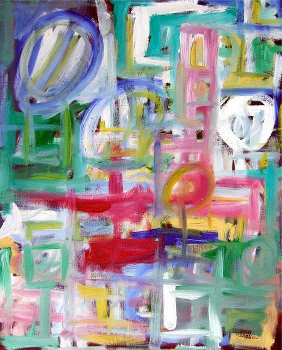 Abstract Painting - Composition No. 5 by Michael Henderson