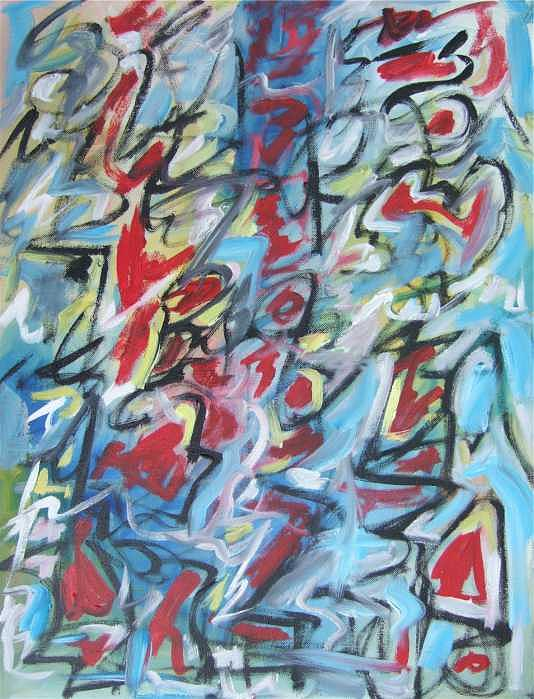Abstract Painting - Composition No 7 by Michael Henderson