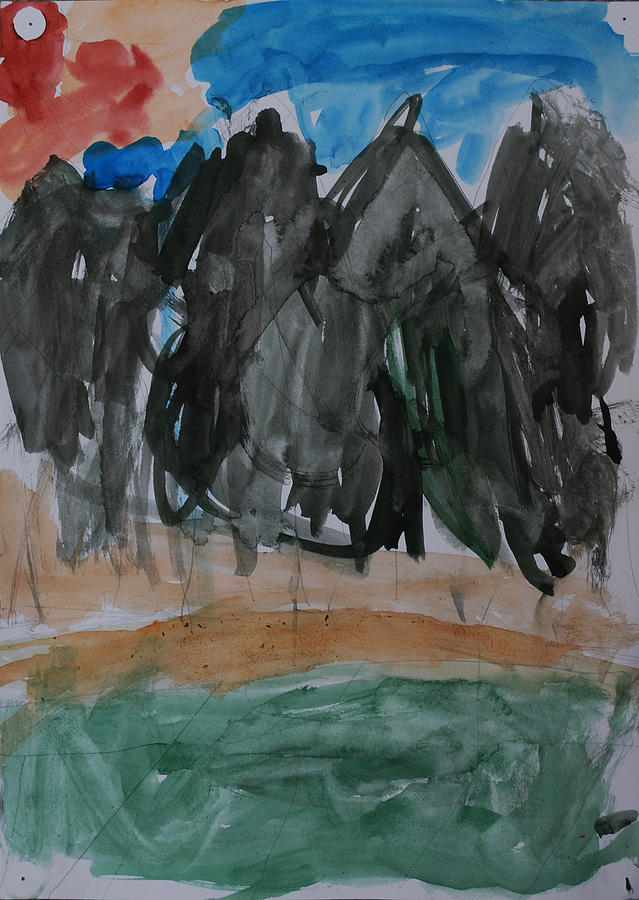 Landscape Painting - Composition by Puru Yadav