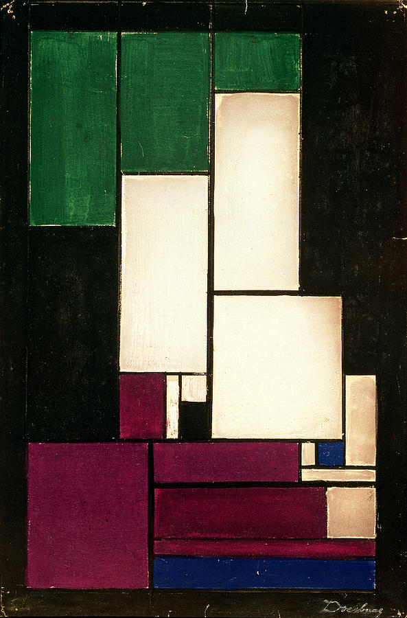 Composition Painting - Composition by Theo van Doesburg