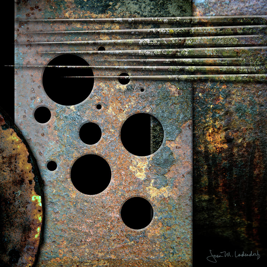 Composition with Holes and Spikes by Joan Ladendorf
